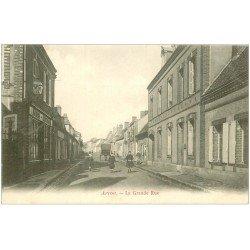 carte postale ancienne 28 ARROU. La Grande Rue vers 1900. Commerce Martin Gaultier