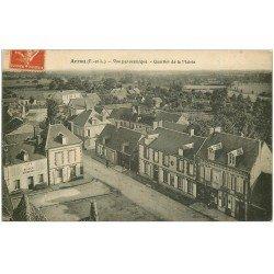 carte postale ancienne 28 ARROU. Quartier de la Mairie 1918. Café de la Place Boussard