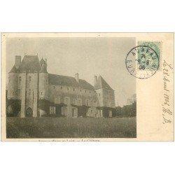 carte postale ancienne 28 AUNEAU. Château 1906