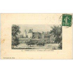 carte postale ancienne 28 AUNEAU. Château 1915