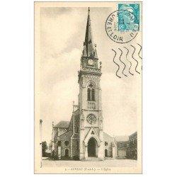 carte postale ancienne 28 AUNEAU. Eglise 1952