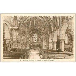 carte postale ancienne 28 AUNEAU. Eglise Saint-Remy et sa Chaire