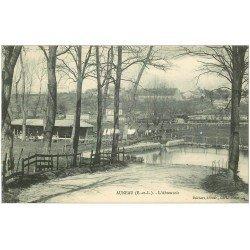 carte postale ancienne 28 AUNEAU. L'Abreuvoir et Lavandières