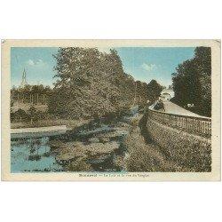 carte postale ancienne 28 BONNEVAL. Le Loir et Rue du Verglas