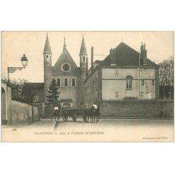 carte postale ancienne 28 CHARTRES. Asile Vieillards de Saint-Brice et Militaires