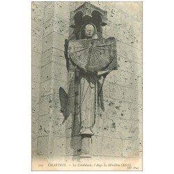 carte postale ancienne 28 CHARTRES. Cathédrale. Ange du Méridien 1907 horloge solaire