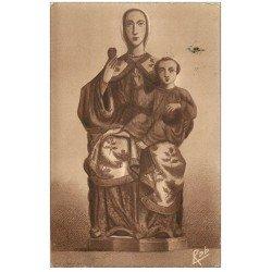 carte postale ancienne 28 CHARTRES. Cathédrale. Vierge du Pilier 1937