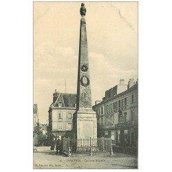 carte postale ancienne 28 CHARTRES. Colonne Marceau 1913