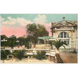 carte postale ancienne 03 VICHY. Casino. Terrasse et Jardins 1926