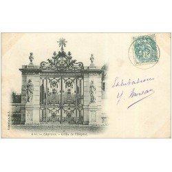 carte postale ancienne 28 CHARTRES. Grille de l'Hôpital 1903