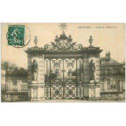 carte postale ancienne 28 CHARTRES. Grille Hôtel Dieu 1910