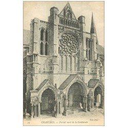 carte postale ancienne 28 CHARTRES. La Cathédrale Portail 29