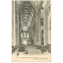 carte postale ancienne 28 CHARTRES. La Cathédrale Rosace