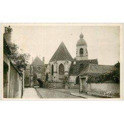 carte postale ancienne 28 NOGENT-LE-ROTROU. Carrefour Saint-Laurent. Carte Photo timbre manquant