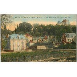 carte postale ancienne 28 NOGENT-LE-ROTROU. Château et Ecoles