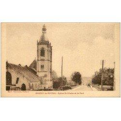 carte postale ancienne 28 NOGENT-LE-ROTROU. Eglise Saint-Hilaire et Pont