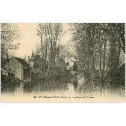 carte postale ancienne 28 NOGENT-LE-ROTROU. L'Huisne 392