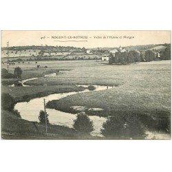 carte postale ancienne 28 NOGENT-LE-ROTROU. L'Huisne Vallée et Margon 1908