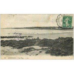 carte postale ancienne 29 AUDIERNE. La Plage 1915