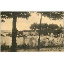 carte postale ancienne 29 BEG MEIL. Plage des Oiseaux 1931