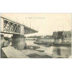 carte postale ancienne 29 BREST. Le Grand Pont ouvert