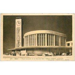 carte postale ancienne 29 BREST. Maquette de la Nouvelle Gare. Par Cassan 1938