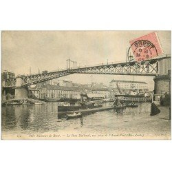 carte postale ancienne 29 BREST. Pont National Port Militaire 1905
