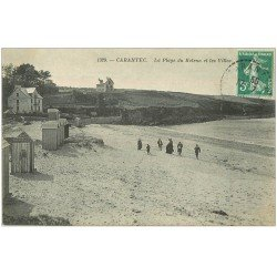 carte postale ancienne 29 CARANTEC. Villas Plage du Kelenn 1911