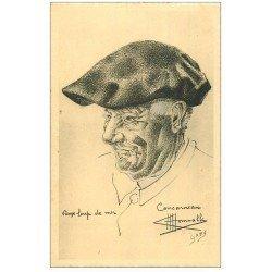 carte postale ancienne 29 CONCARNEAU. Vieux Loup de Mer par Homualk. Papier velin bords dentelés à la ficelle