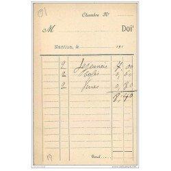 carte postale ancienne 01 NANTUA. Hôtel du Lac de Jantet. Carte facture