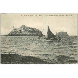 carte postale ancienne 29 MORLAIX. Ile Louet et Château du Taureau