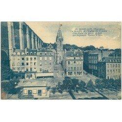 carte postale ancienne 29 MORLAIX. Quartier Eglise Saint-Melaine. Trou de punaise