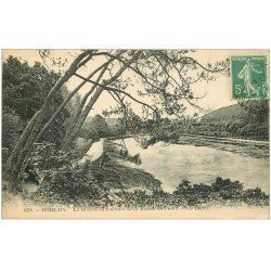 carte postale ancienne 29 MORLAIX. Rivière Maison de Paille 1911