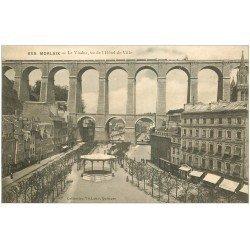 carte postale ancienne 29 MORLAIX. Viaduc et Kiosque