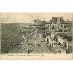 carte postale ancienne 29 ROSCOFF. Plage Roc'h-Kroum