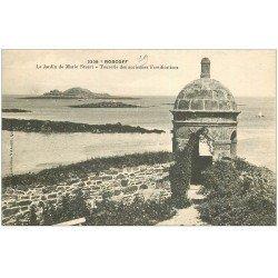 carte postale ancienne 29 ROSCOFF. Tourelle Jardin Marie Stuart