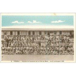 carte postale ancienne 29 TREBOUL. Colonie Vacances du Mans. Contingent 1933