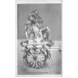 carte postale ancienne 31 LUCHON. Char des Enfants Fête des Fleurs 1905