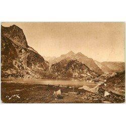 carte postale ancienne 31 LUCHON. Lac d'Espingo Pâtre et Moutons