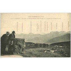 carte postale ancienne 31 LUCHON. Plateau d'Orientation Plateau Superbagnères