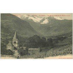 carte postale ancienne 31 LUCHON. Saint-Aventin. . Vallée Arbouet et Gours Blancs