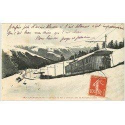 carte postale ancienne 31 LUCHON. Train Chemin de Fer à Crémaillère de Superbagnères
