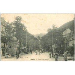 carte postale ancienne 31 LUCHON. Vespasiennes Allées d'Etigny 1905