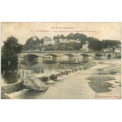 carte postale ancienne 31 MONTREJEAU. Embarcation sur la Garonne 1906