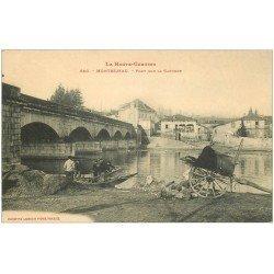 carte postale ancienne 31 MONTREJEAU. Pêcheur sous le Pont sur la Garonne
