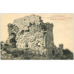 carte postale ancienne 31 MONTREJEAU. Ruines Vieux Château