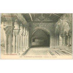 carte postale ancienne 31 SAINT-BERTRAND-DE-COMMINGES. Cloître intérieur