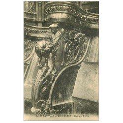 carte postale ancienne 31 SAINT-BERTRAND-DE-COMMINGES. Détail Stalles