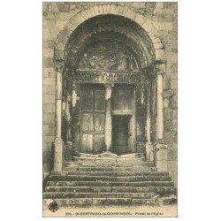 carte postale ancienne 31 SAINT-BERTRAND-DE-COMMINGES. Portail Eglise