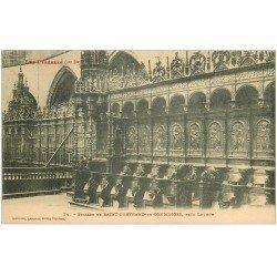 carte postale ancienne 31 SAINT-BERTRAND-DE-COMMINGES. Stalles 24